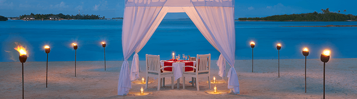 Cinnamon Dhonveli Maldives Romantic Dinner
