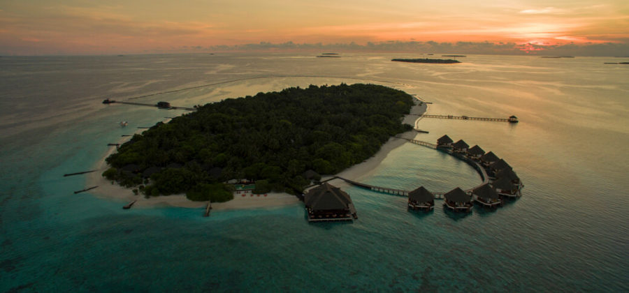 Adaaran Select Meedhupparu Insel Sonnenuntergang