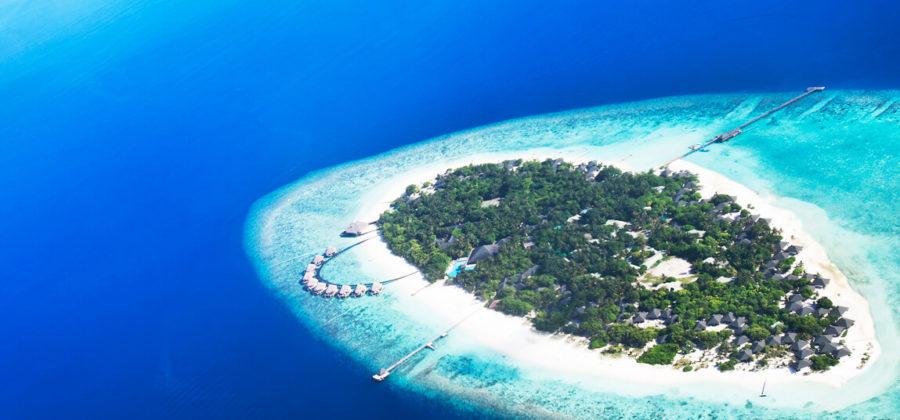 Adaaran Select Meedhupparu Insel von oben