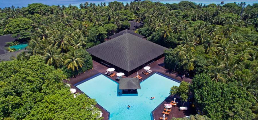 Adaaran Select Meedhupparu Pool von oben