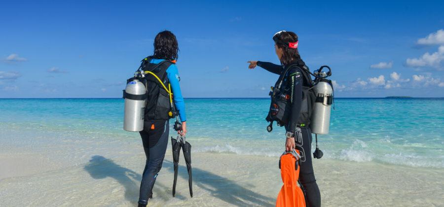 Adaaran Select Meedhupparu Tauchen vom Strand