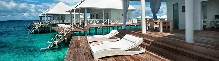 Diamonds Thudufushi Jacuzzi water vila Terrasse