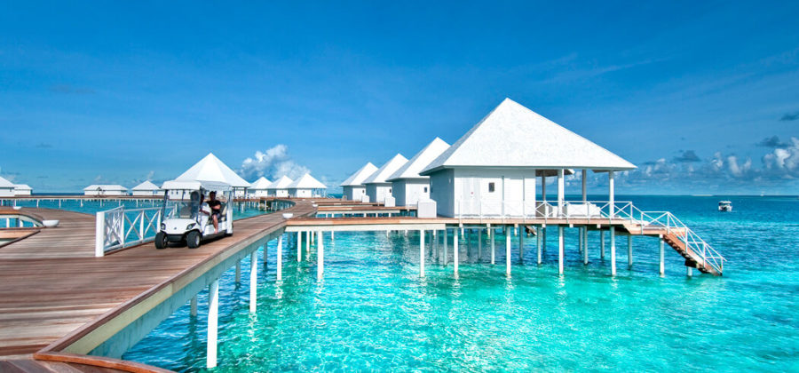 Diamonds Thudufushi Jacuzzi Water Villas Golf Kart