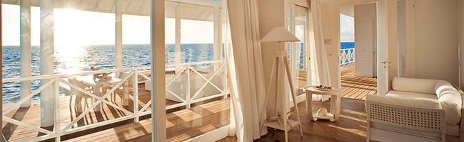 Diamonds Thudufushi two Bedroom Water Villa Ausblick
