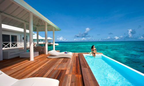 Diamonds Thudufushi Two Bedroom Water Villa Pool