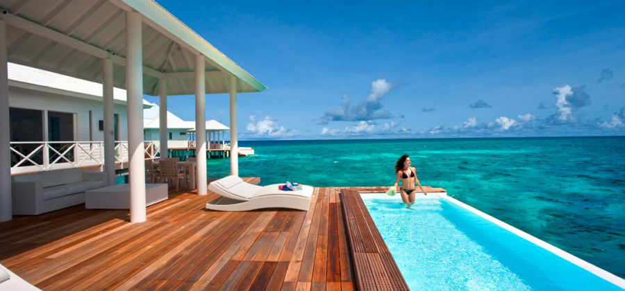 Diamonds Thudufushi Two Bedroom Water Villa Pool