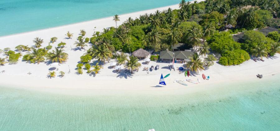 Holiday Island Insel von oben