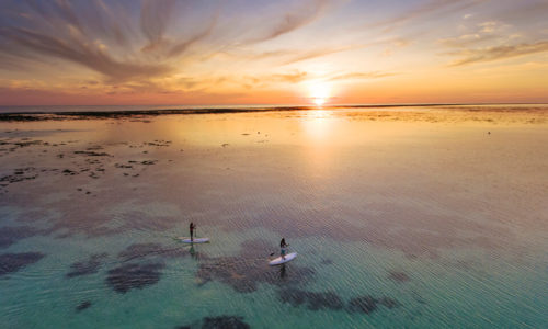 Holiday Island Sup Sonnenuntergang