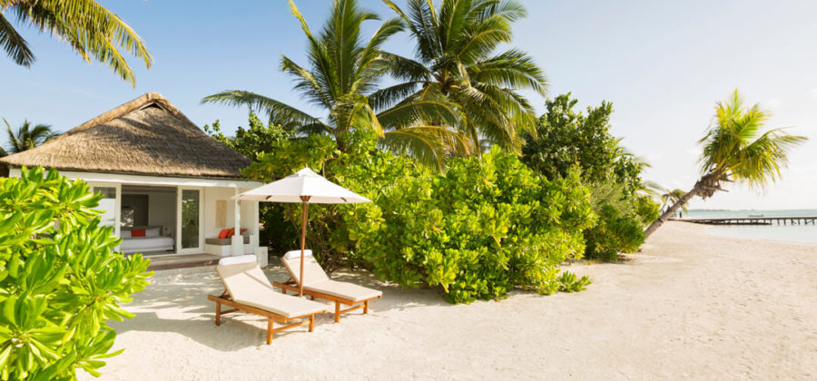 Lux South Ari Atoll Beach Villa Aussen