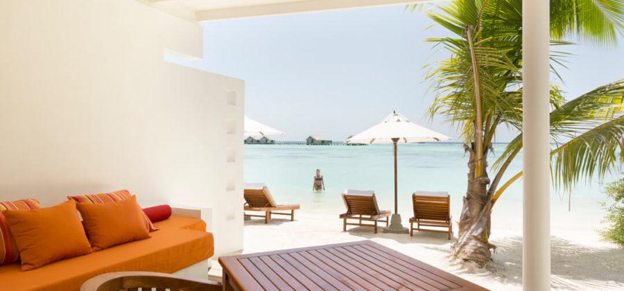 Lux South Ari Atoll Lagoon Pavillon Ausblick