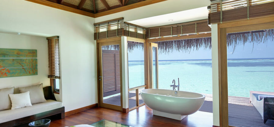 Lux South Ari Atoll Spa Water Villa Innen