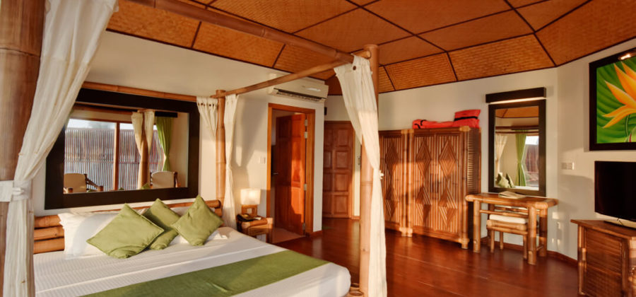Safari Island Resort Semi Water Bungalow Interior