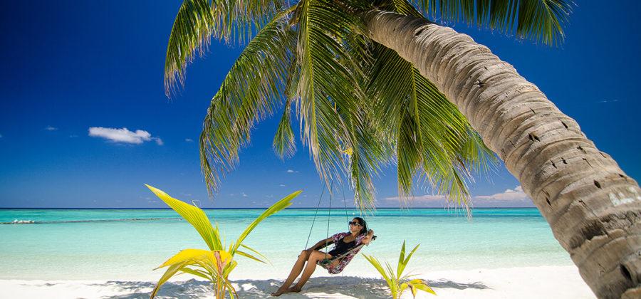 Summer Island Maldives Strand