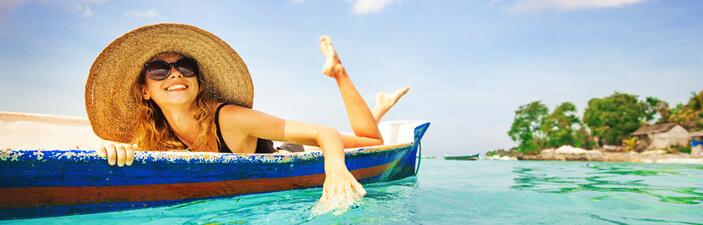 Malediven Resort paddeln