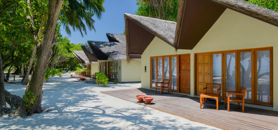 Adaaran Select Hudhuran Fushi Beach Villa außen