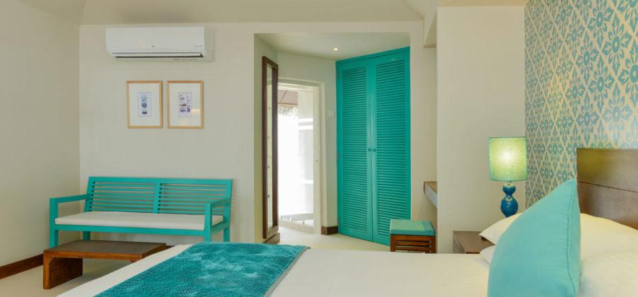 Adaaran Select Hudhuran Fushi Beach Villa Klimaanlage