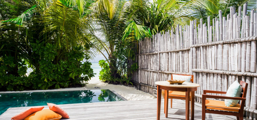 Anantara Dhigu Pool Villa Terrasse