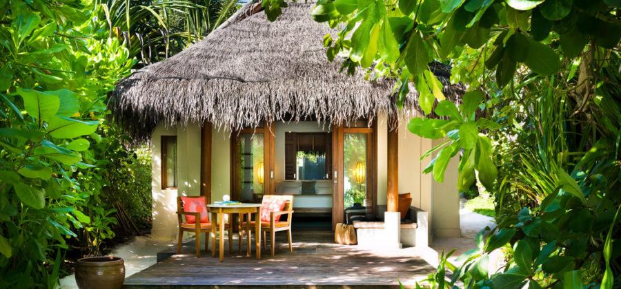 Anantara Dhigu Sunrise Beach Villa von aussen