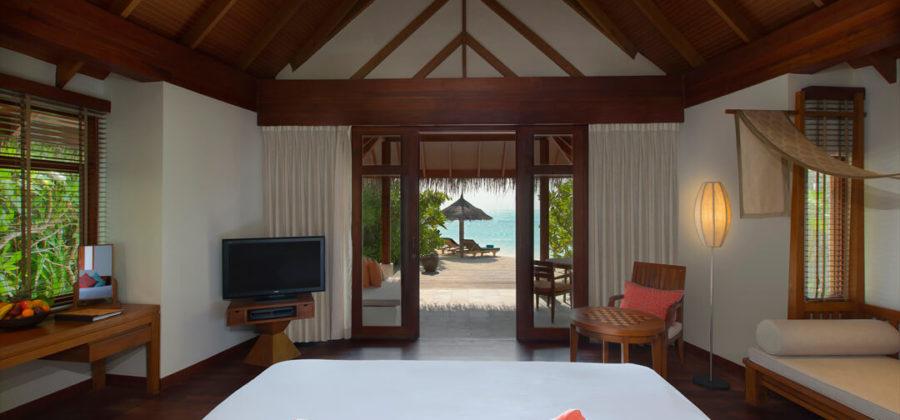 Anantara Dhigu Sunset Beach Villa Schlafzimmer