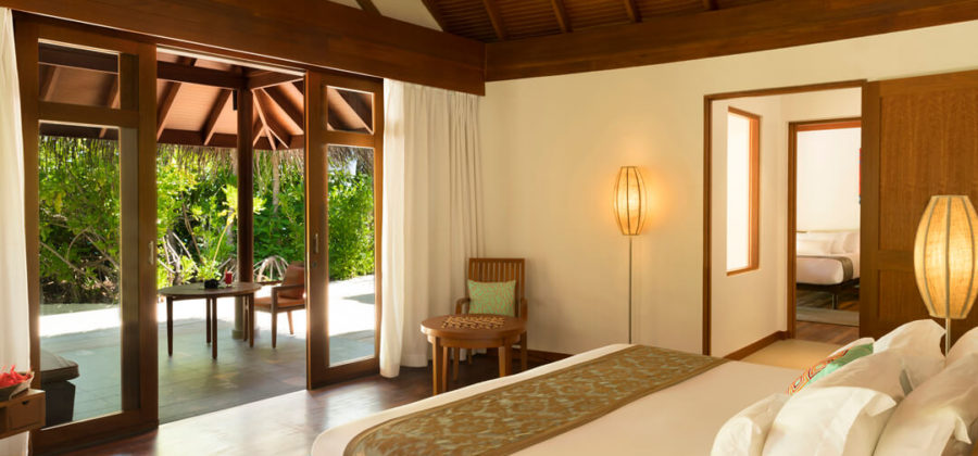 Anantara Dhigu Two Bedroom Family Villa Schlafzimmer