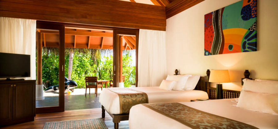 Anantara Dhigu Two Bedroom Family Villa zweiter Schlafraum