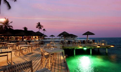 Centara Grand Island Reef Restaurant Sonnenuntergang