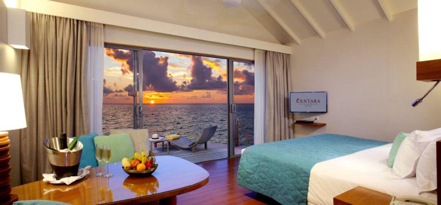 Centara Ras Fushi Deluxe Sunset Water Villa