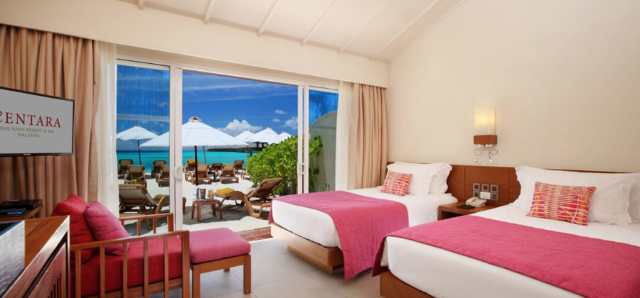 Centara Ras Fushi Ocean Beach Front Villa Betten