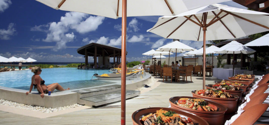 Centara Ras Fushi Poolside Lunch