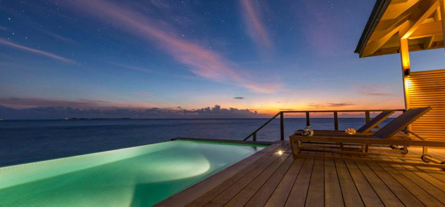 Hurawalhi Ocean Pool Villa Terrasse