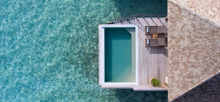 Hurawalhi Ocean Pool Villa von oben