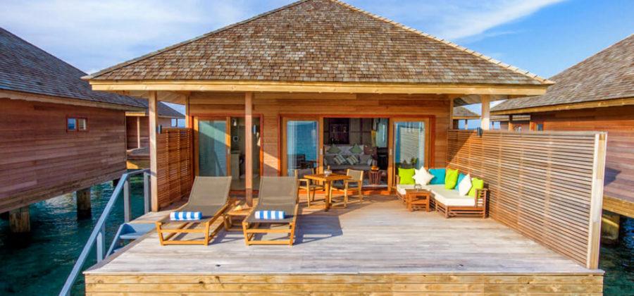 Hurawalhi Ocean Villa Terrasse