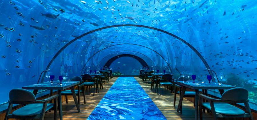 Hurawalhi Unterwasser Restaurant Vollansicht