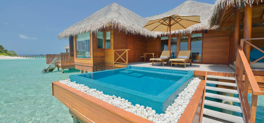 Huvafen Fushi Lagoon Beach Bungalow with Pool