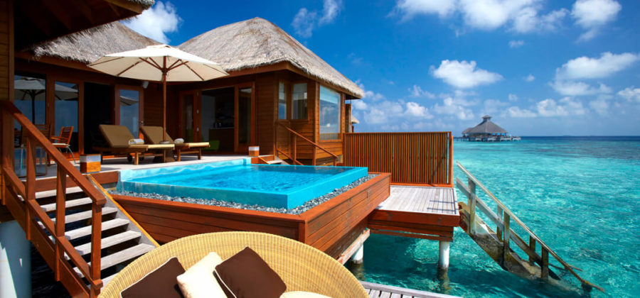 Huvafen Fushi Ocean Bungalow with Pool Exterior