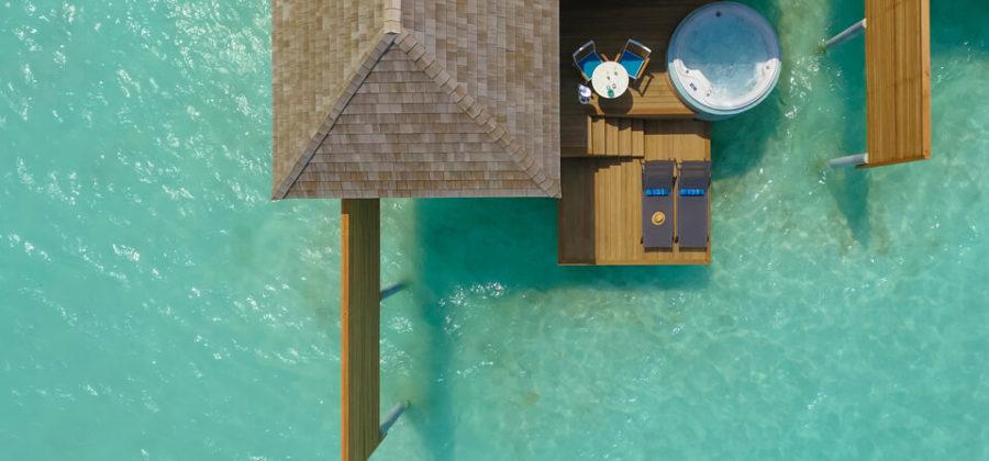 Kandima Aqua Villa with Jacuzzi von oben