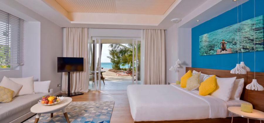 Kandima Sky and Beach Studio Schlafzimmer