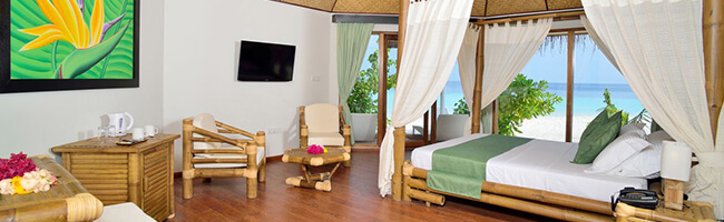 Safari Island Resort Beach Bungalow Interior