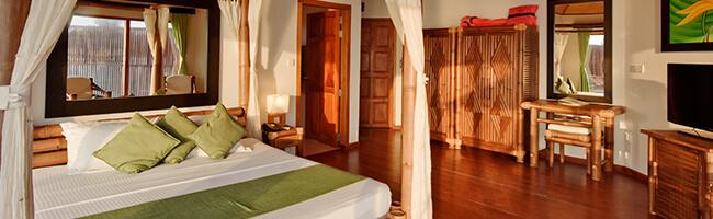 Safari Island Resort Semi Water Bungalow Interior