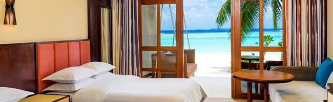 Sheraton Maldives Beach Front Deluxe Room