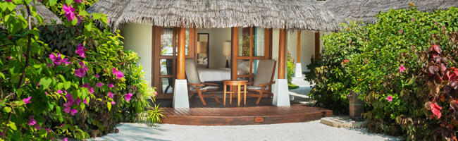 Sheraton Maldives Island Cottage Terrasse