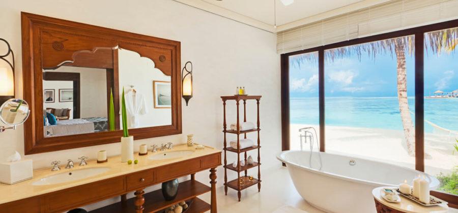 The Residence Maldives Beach Villa Bad