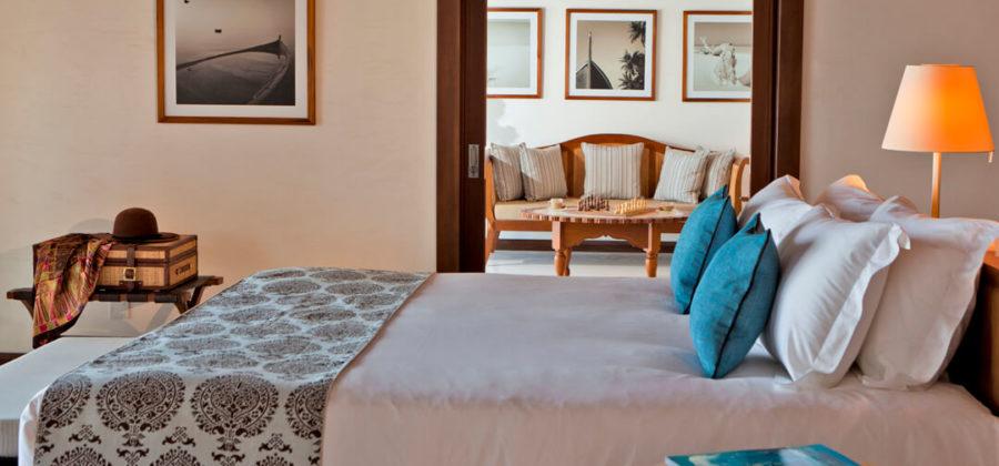 The Residence Maldives Beach Villa Bett