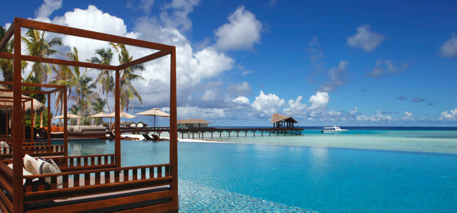 The Residence Maldives Pool Ausblick