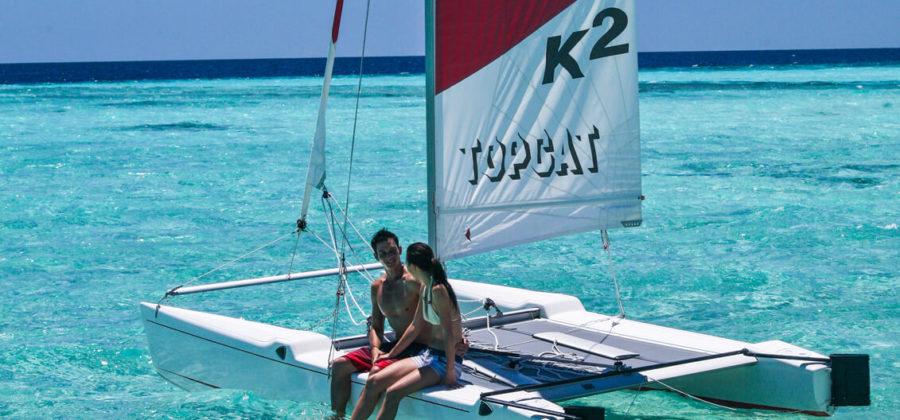 The Residence Maldives Wassersport Katamaran