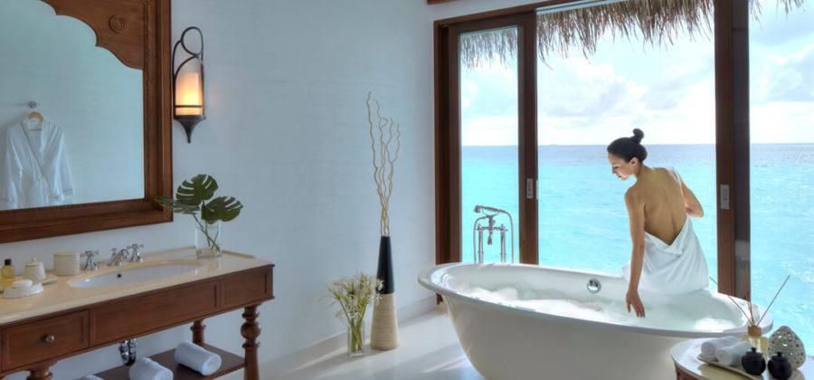 The Residence Maldives Water Pool Villa Bad