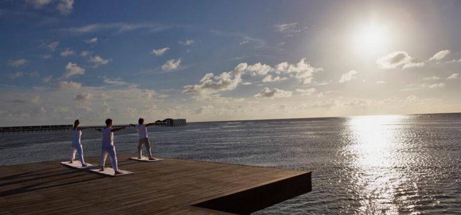 The Residence Maldives Yoga Sonnenaufgang