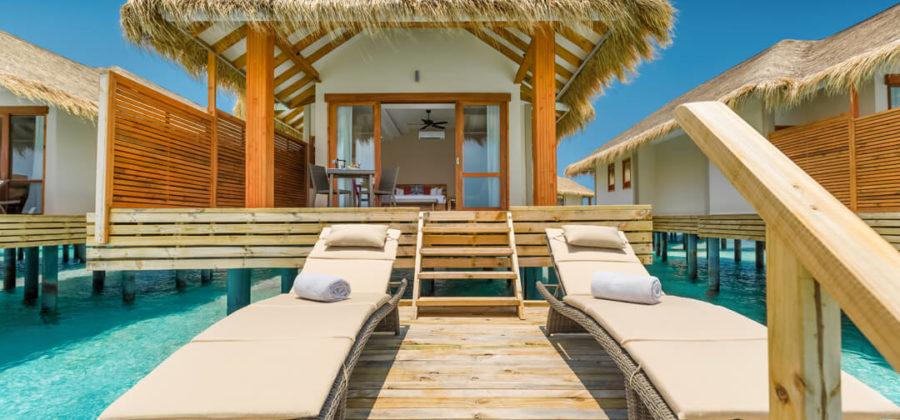 Kudafushi Resort und Spa Water Villa Liegen