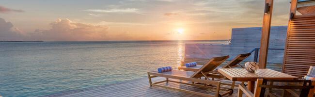 Hurawalhi Ocean Villa Terrasse Sonne