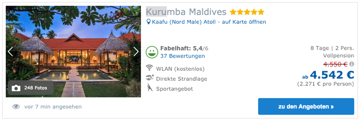 XTUI Kurumba Maldives 21.01.2019